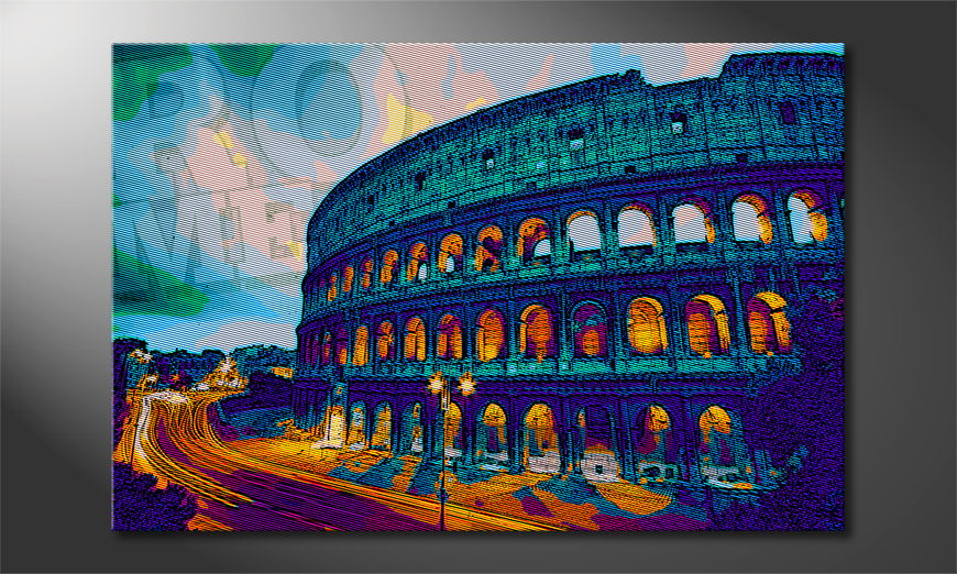 Le tableau imprimé Rom