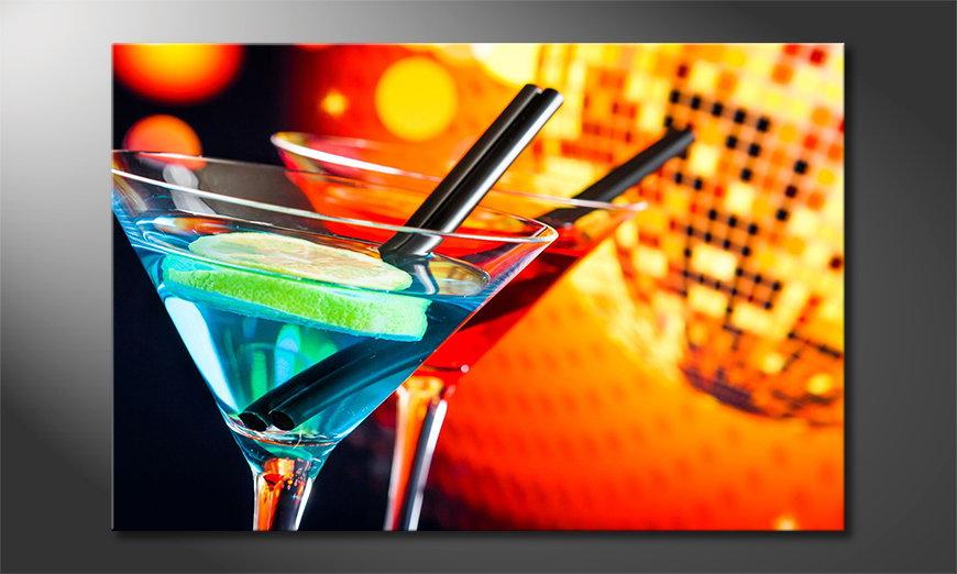 Le tableau imprimé Two Cocktails