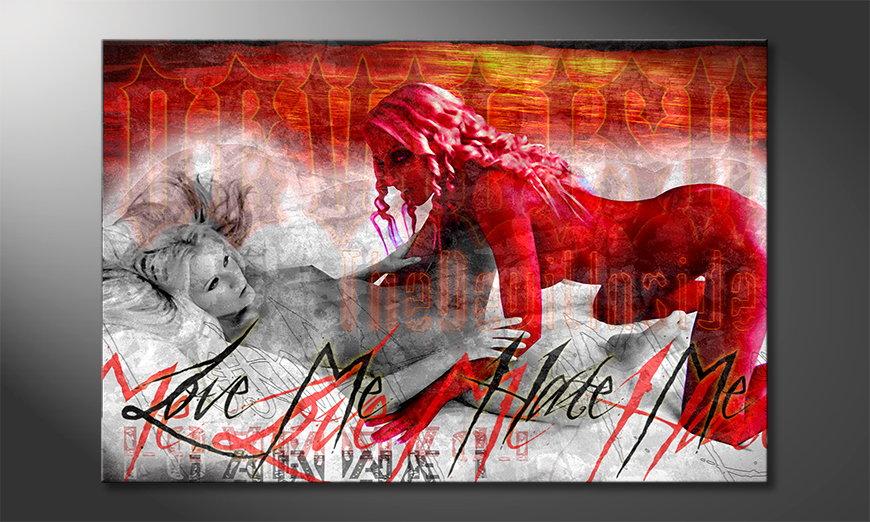 Le tableau mural érotique Devilish