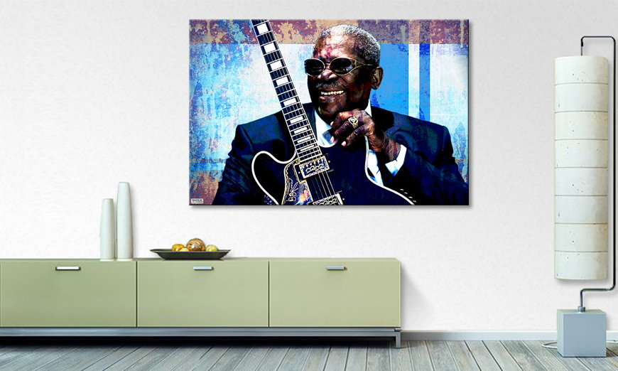 Le tableau mural BB King
