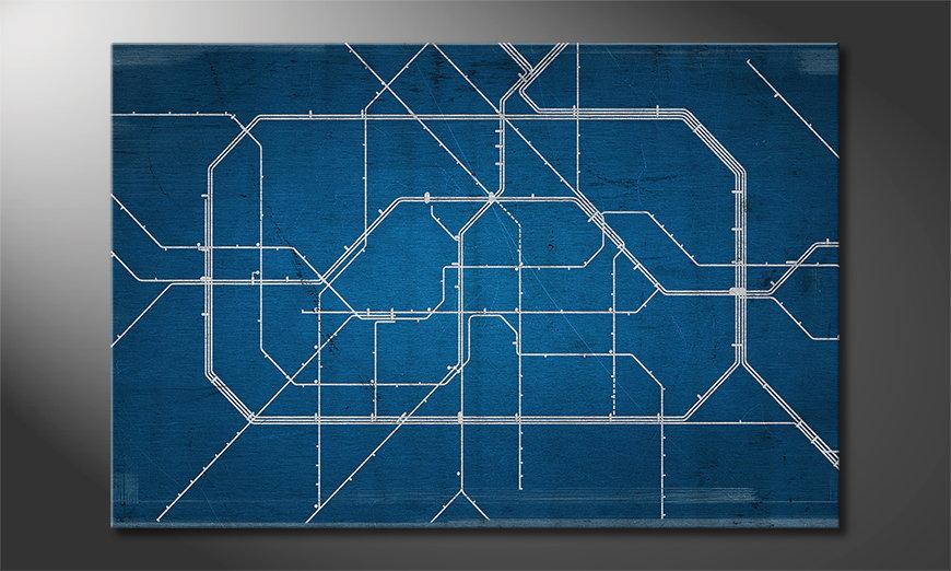 Le tableau mural Berlin Metro