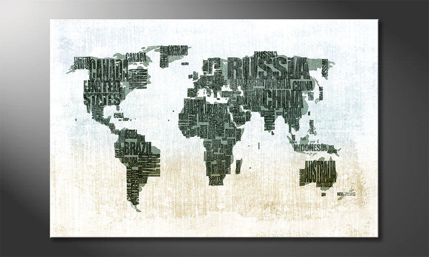 Le tableau mural Carte du Monde 1