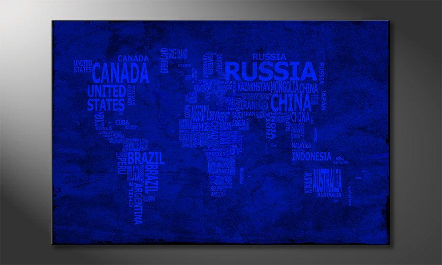 Le tableau mural Carte du Monde 10