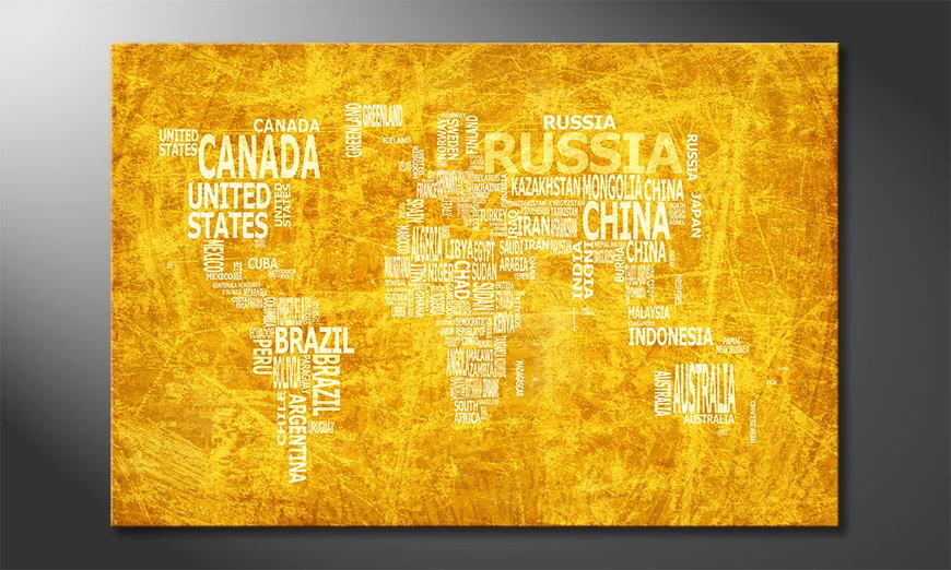 Le tableau mural Carte du Monde 15