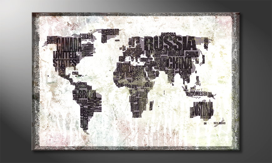Le tableau mural Carte du Monde 17