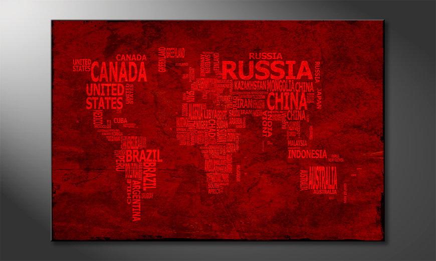 Le tableau mural Carte du Monde 18