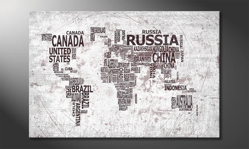 Le tableau mural Carte du Monde 22