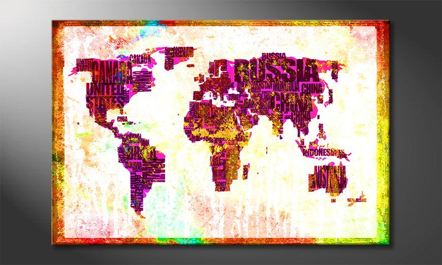 Le tableau mural Carte du Monde 3