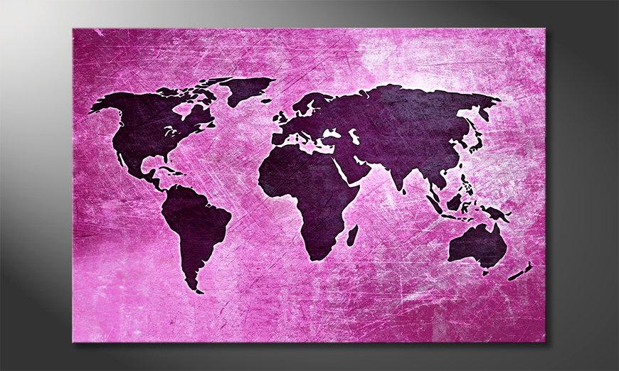 Le tableau mural Carte du Monde 4