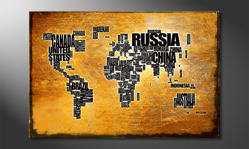 Le tableau mural Carte du Monde 6