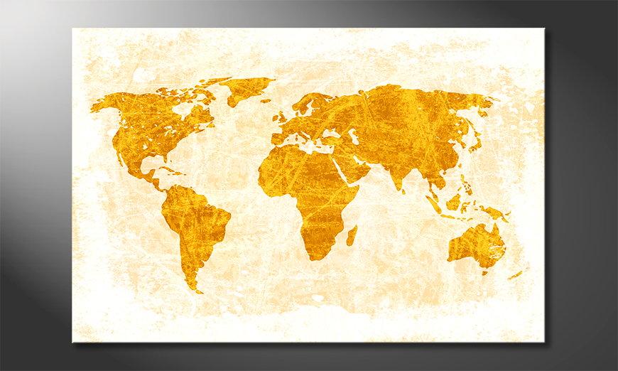 Le tableau mural Carte du Monde 7