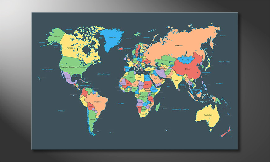 Le-tableau-mural-Colorful-Map