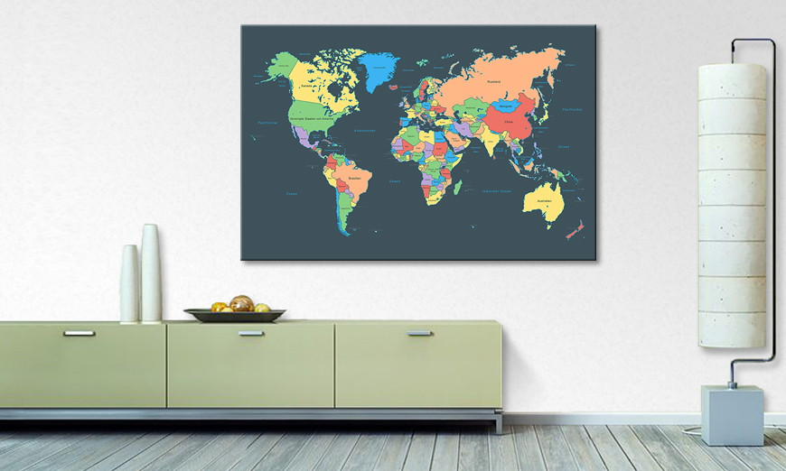 Le tableau mural Colorful Map