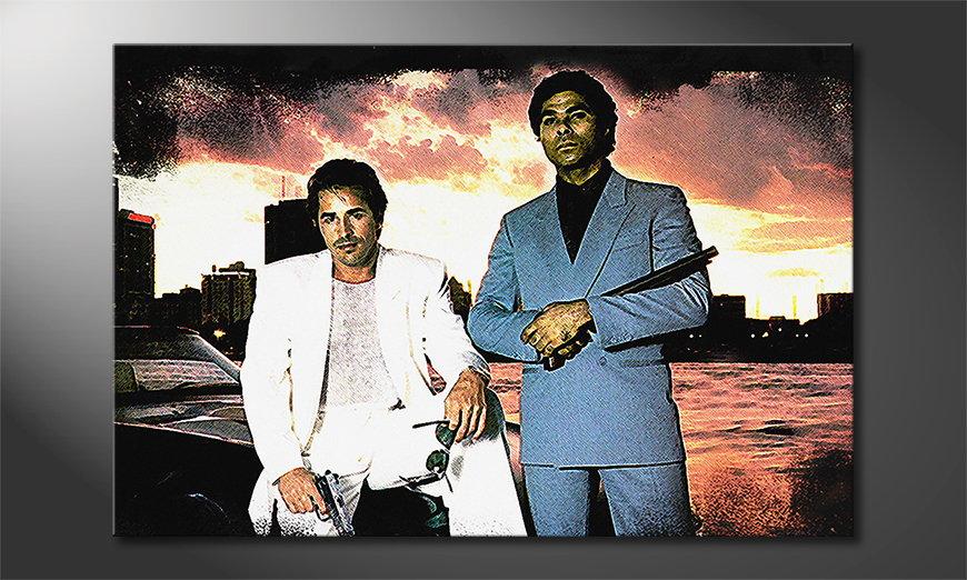 Le tableau mural Instant Miami Vice