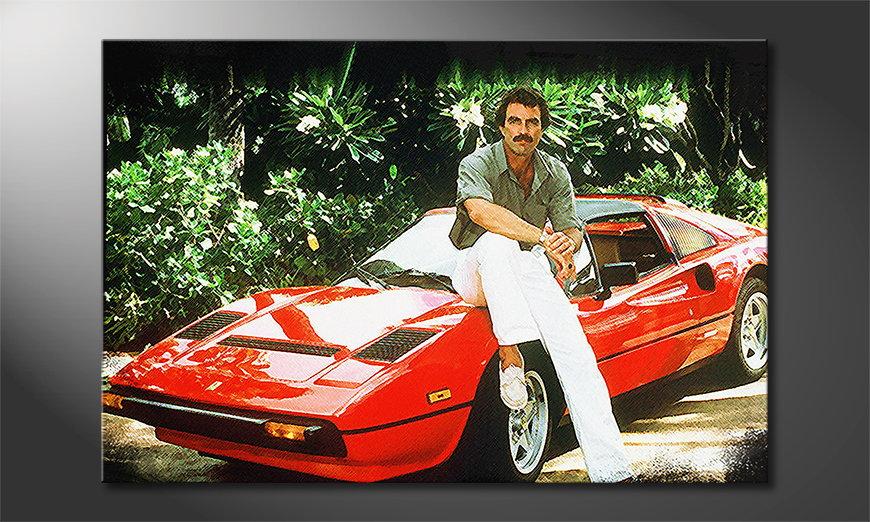 Le tableau mural Magnum Ferrari