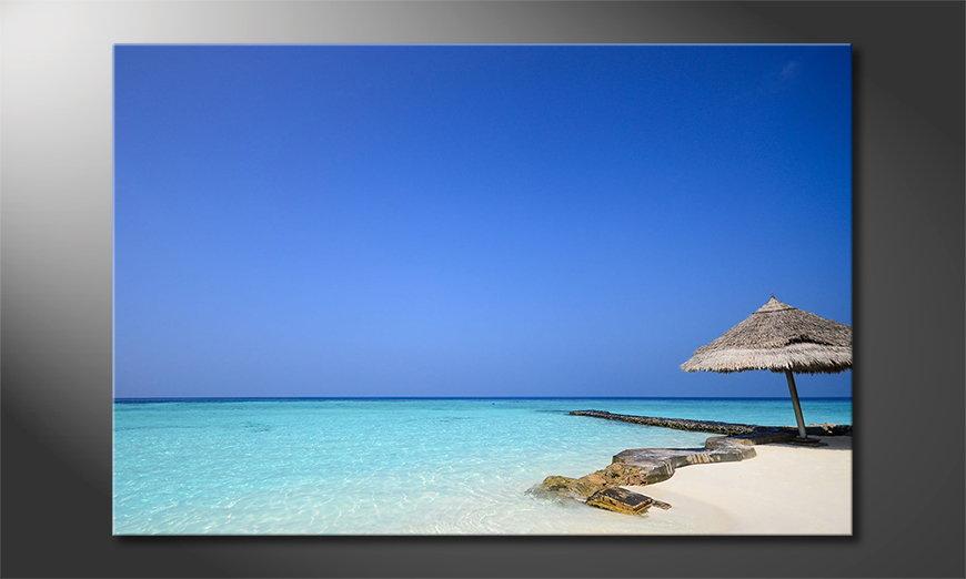 Le tableau mural Maledives Beach