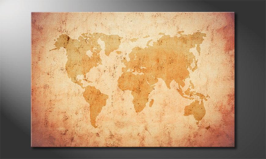 Le tableau mural Old Worldmap