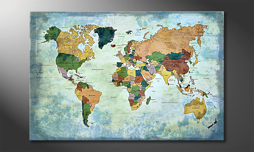 Le tableau mural Oldworldmap one