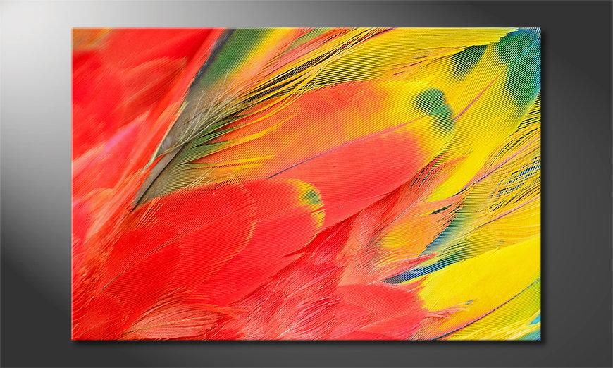 Le tableau mural Parrot Feathers