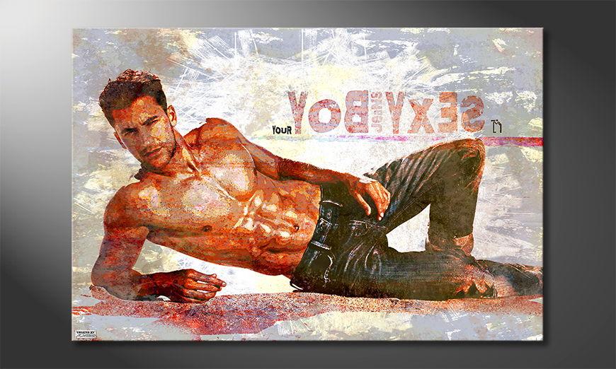Le tableau mural Sexy Boy