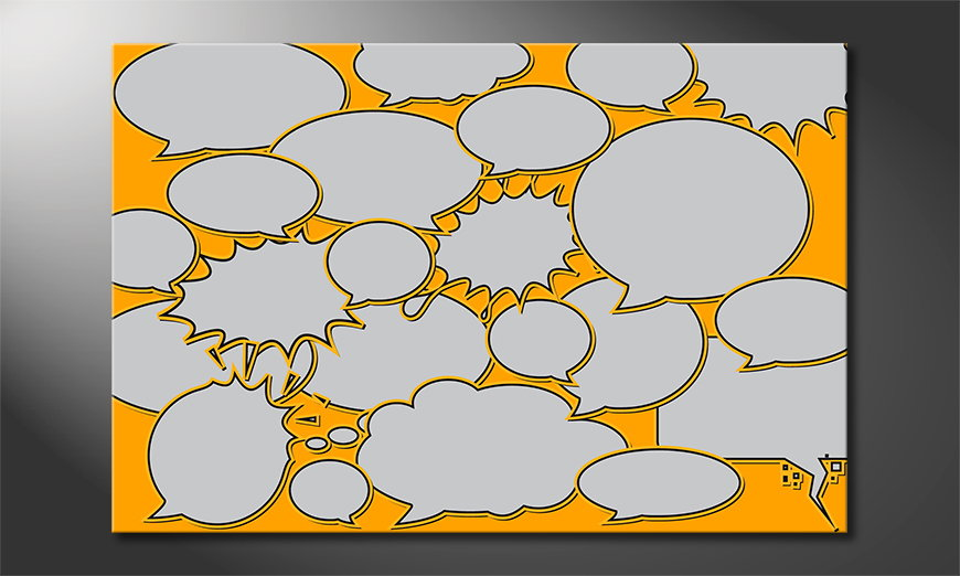 Le tableau mural Speech Bubbles
