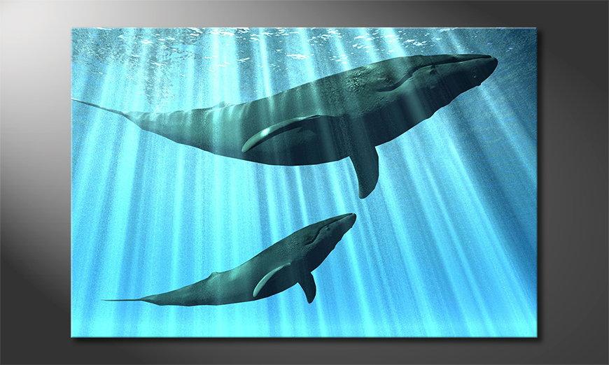 Le tableau mural Whales