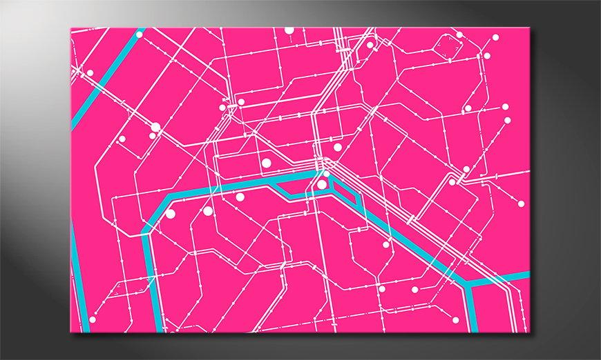 Le tableau mural moderne Metro Paris
