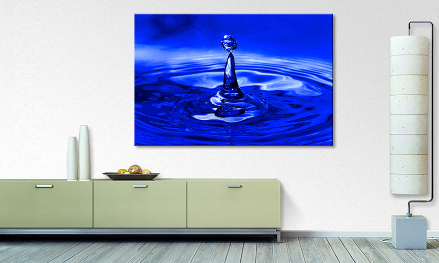 Limpression sur toile Blue �Drop 120x80cm