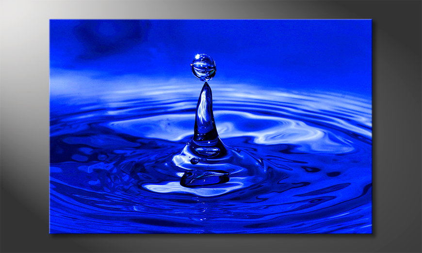 L'impression sur toile Blue Drop 120x80x2cm