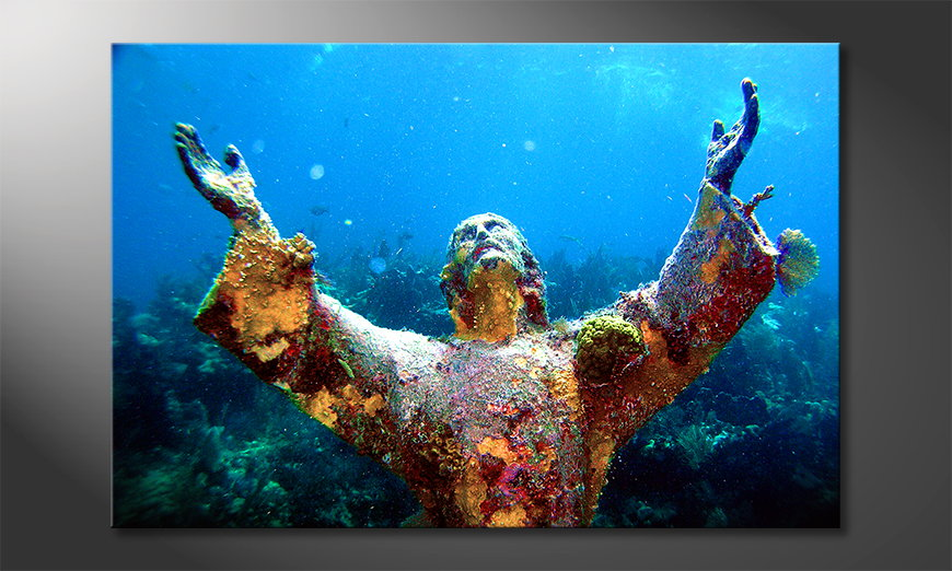 L'impression sur toile Christ of the Abyss