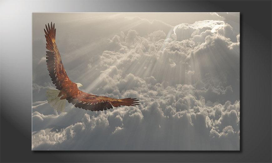 L'impression sur toile Eagle Flight