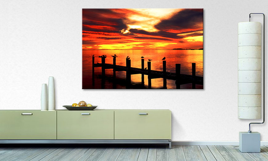 Limpression sur toile Glowing �Sky