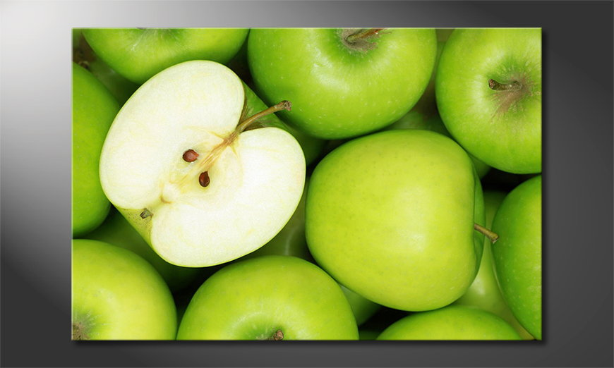L'impression sur toile Green Apples