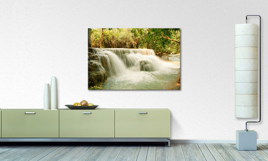 Limpression sur toile Jungle Waterfall