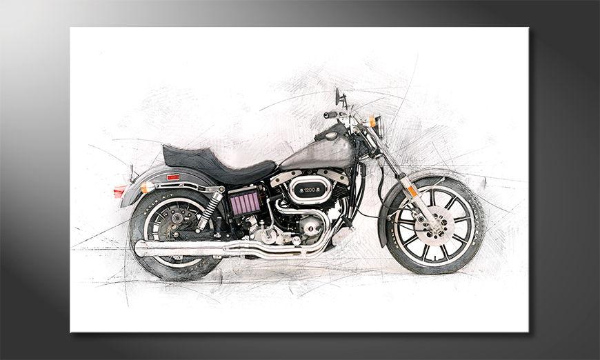 L'impression sur toile Motorcycle
