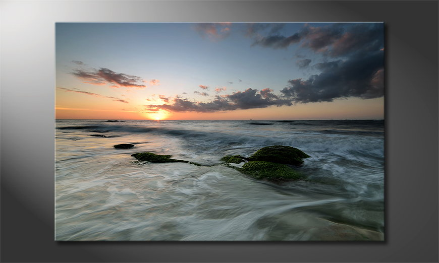 Limpression-sur-toile-Ocean-Sunset