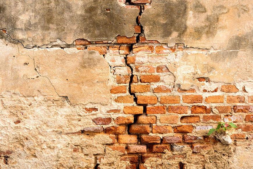Intissé déco Mur de brique 120x80cm et plus