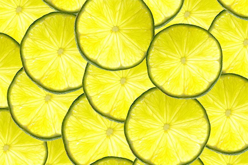 Intissé déco Rondelles de citron 120x80cm et plus