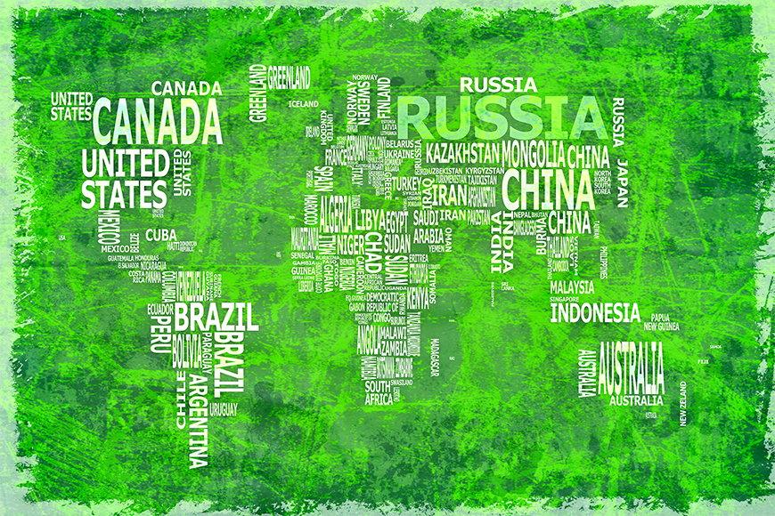 Papier intissé Carte du Monde 16 120x80cm et plus