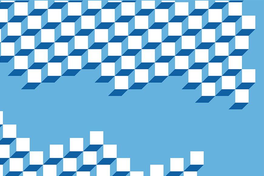 Papier intissé Cubes 3D 120x80cm et plus