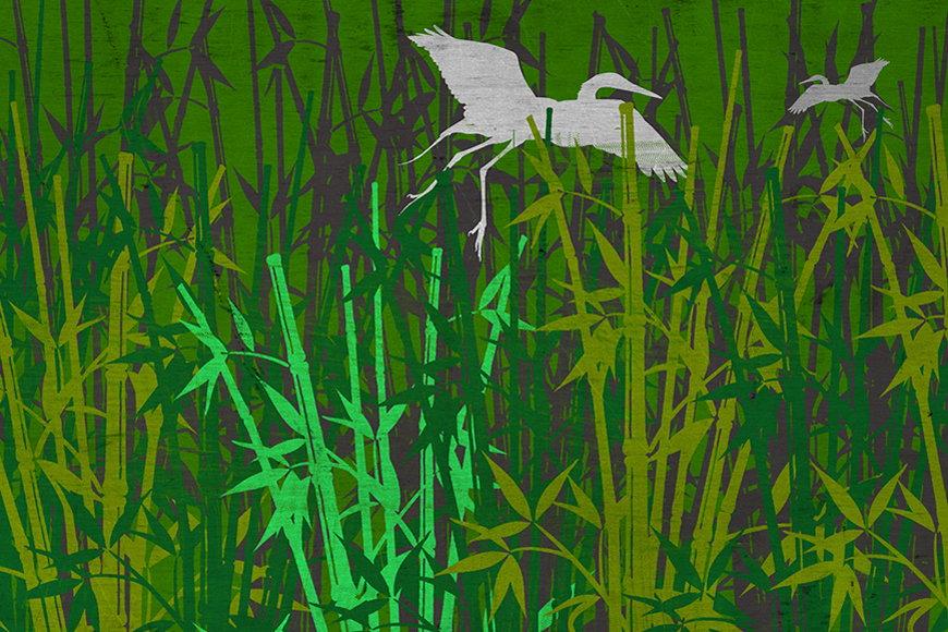 Papier intissé Forêt de bambous 120x80cm et plus