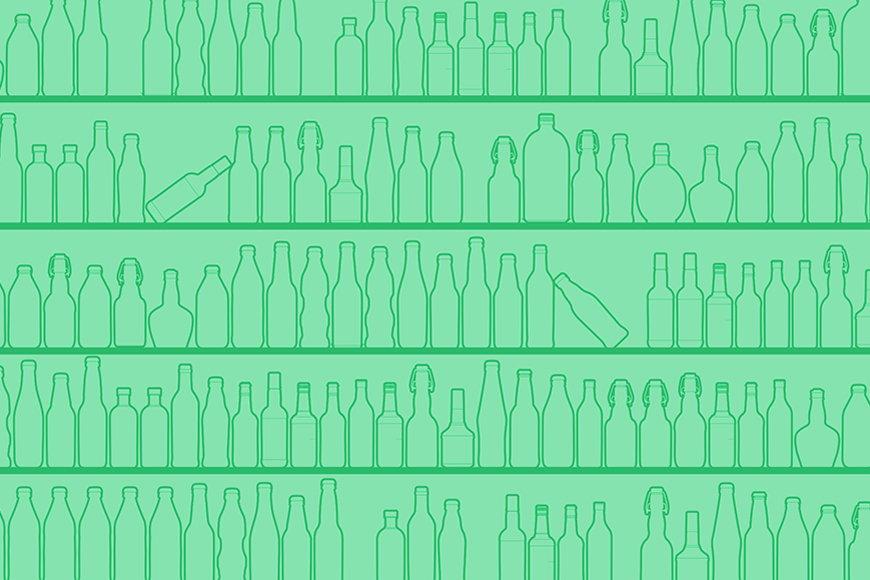 Papier intissé Green Bottles 120x80cm et plus
