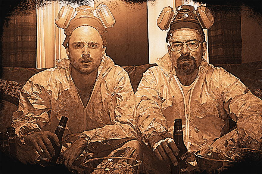 Papier peint Breaking Bad 120x80cm et plus