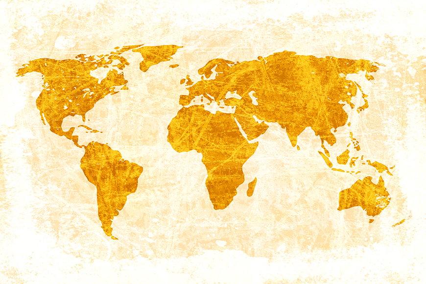 Papier peint Carte du Monde 7 120x80cm et plus