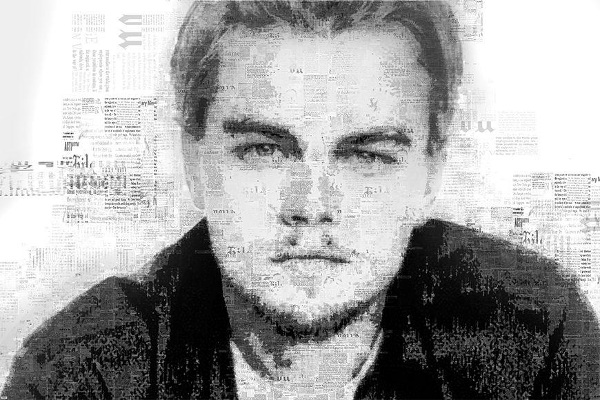 Papier peint DiCaprio 120x80cm et plus