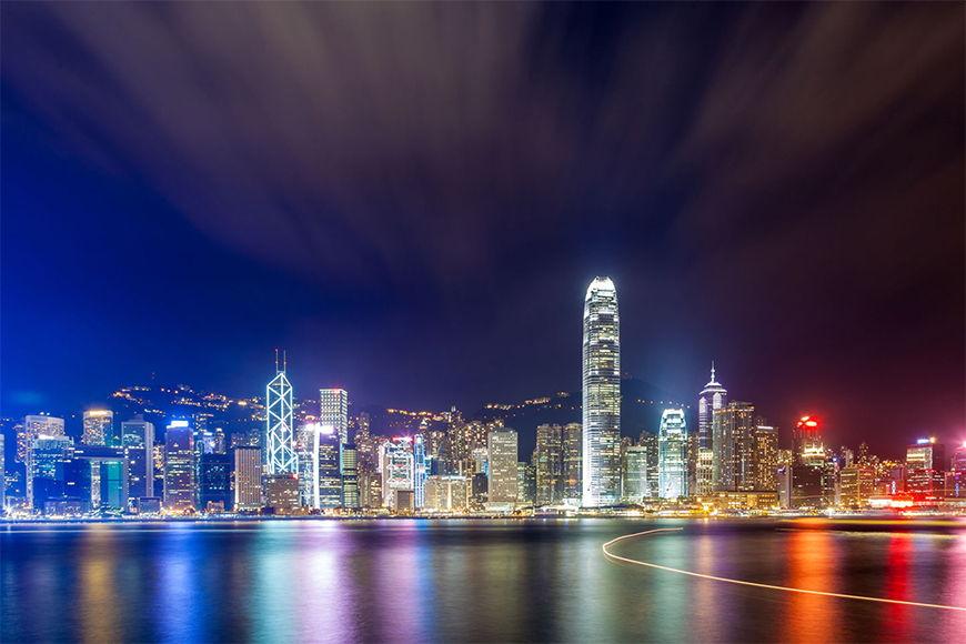 Papier peint Hongkong at Night en 6 tailles