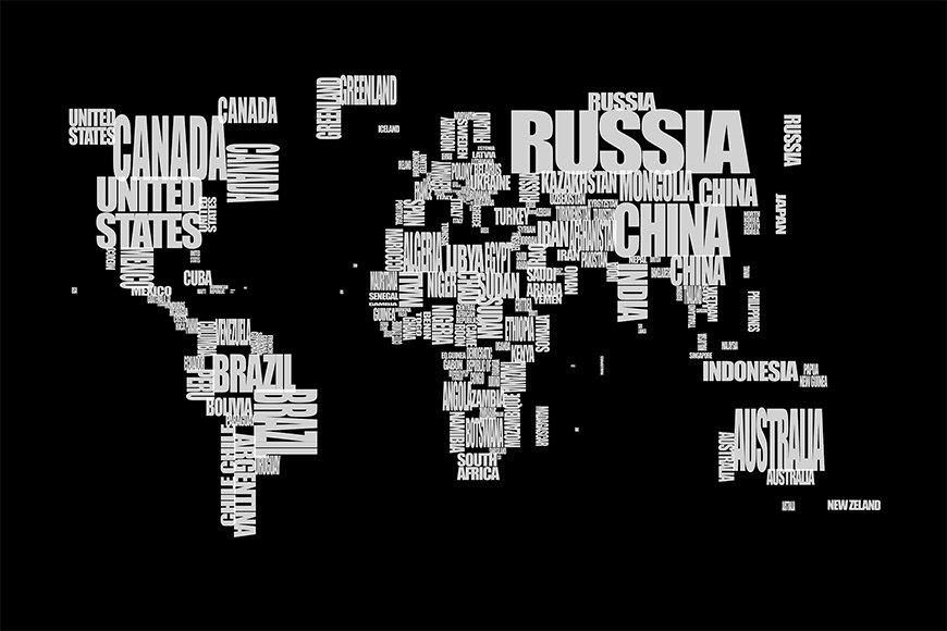 Papier peint Le Carte du Monde 14 120x80cm et plus