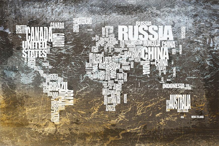 Papier peint Le Carte du Monde 20 120x80cm et plus