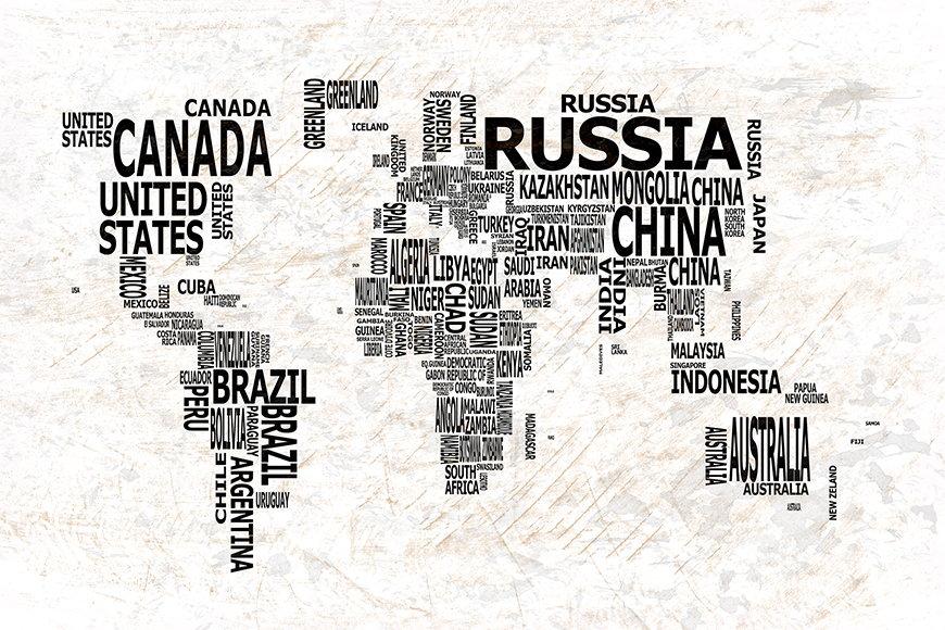Papier peint Le Carte du Monde 21 120x80cm et plus