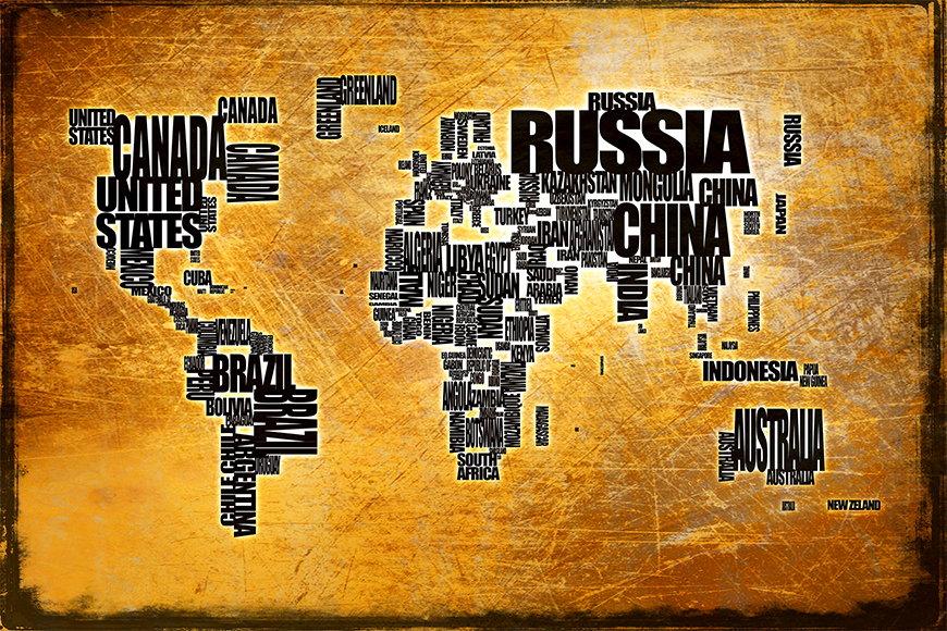 Papier peint Le Carte du Monde 6 120x80cm et plus